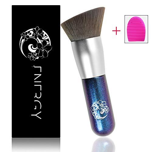 ENERGY Angel Kabuki Foundation Brush Tragbarer Gesichts-Make-up-Pinsel für Concealer Contouring Shader Blushing-Chubby Blue -
