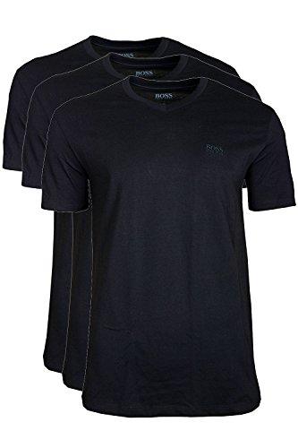 BOSS Hugo Herren T-Shirt Shirt SS VN 3P BM 10111875 01, 3er Pack Schwarz