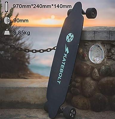 SKATEBOLT Tornado Elektrisches Skateboard mit Fernbedienung, Integrierte Akku Dual Motor, 30km Reichweite, bis zu 40km/h, Ahornholz Deck, 90A Räder, für Jugendliche Erwachsene