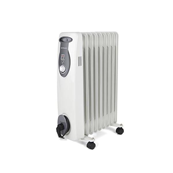 Orbegozo RA 2000 E, Radiador de Aceite, Construcción Modular de 9 Elementos, 2000 W, Blanco