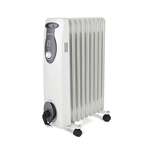 Orbegozo RA E Radiador de aceite 2000 W de potencia construcción modular de 9 elementos y diseño en color blanco