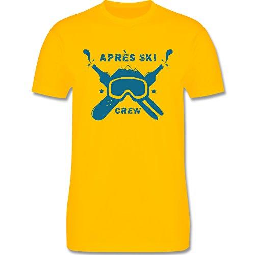 Après Ski - Apres Ski Crew - Herren Premium T-Shirt Gelb