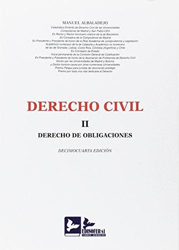 Derecho civil II - derecho de obligaciones por Manuel Albaladejo Garcia