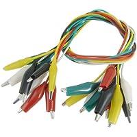 SODIAL(R) 10 x Cable de Prueba Clip de Caiman Aislado Multicolor 45cm 1.5 Pies
