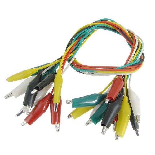 SODIALR 10 x Cable Prueba Clip Caiman Aislado Multicolor