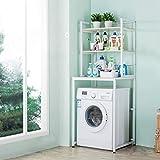 Support de rangement à 3 couches pour lave-linge - Tablette de service en métal -...