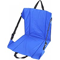 Ligero plegable cojín de suelo con respaldo para exteriores jardín Camping Alpinismo Senderismo Pesca Picnic portátil silla taburete sillas, azul