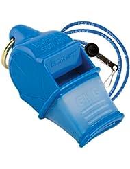 FOX40 Sonik CMG Safety - Silbato de árbitro/entrenador y correa de seguridad azul azul Talla:talla única