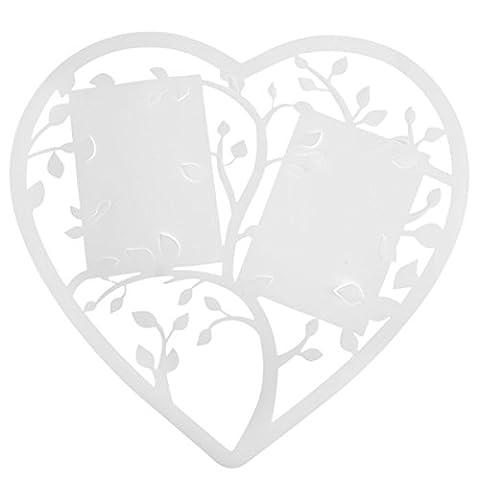 SANTEX 4581-1, Plan de table Coeur, plastique souple blanc