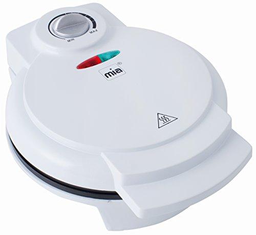 Waffelautomat Waffeleisen Weiß mit regelbaren Thermostat Backampel für Waffeln