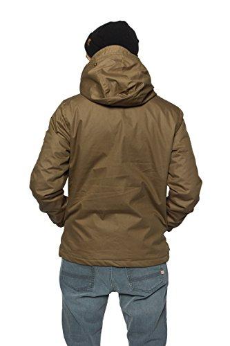 Element Herren Jacke Alder Wax Winterjacke, Übergangsjacke für Herbst und  Winter, wasserabweisend und atmungsaktiv GrŸn