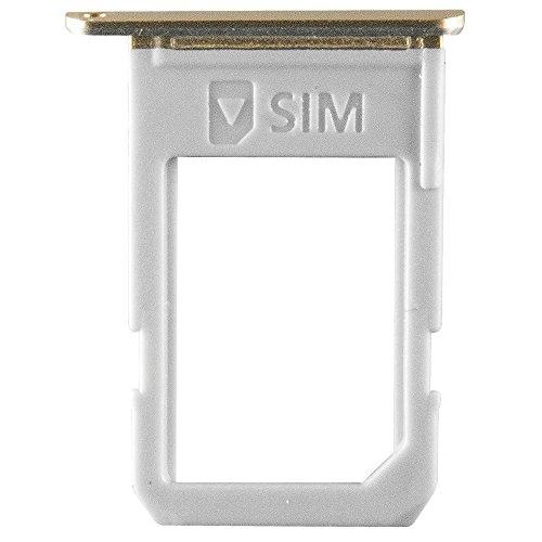 kartenhalter Gold für Samsung G928F Galaxy S6 Edge Plus (SIM Tray) - GH98-37692A ()
