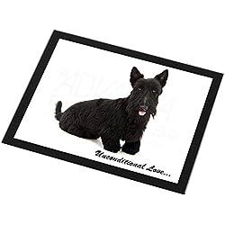 Advanta Group Tischset/Tischset mit schottischem Terrier-Motiv, schwarzer Rand