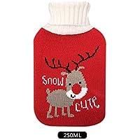 Wärmflasche mit Gestrickten Bezügen, Abnehmbar, Groß, 250 Ml Fassungsvermögen, Weihnachtselche. preisvergleich bei billige-tabletten.eu