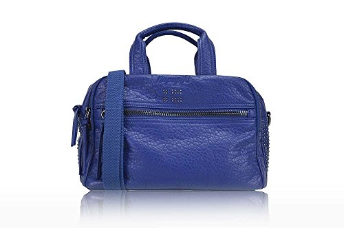 NAPAPIJRI SMALL SATCHEL IN ECO-PELLE BLU