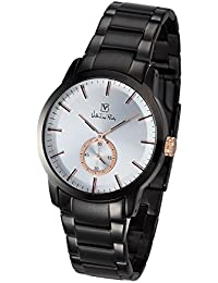Valentino Rudy Watch For Men And Women VR6022 (Dial Color White, Band Color Black) Italian Design Watches Best...