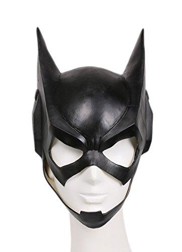Batgirls Kostüm - Halloween Maske Cosplay Kostüm Latex Helm Schwarz voll Kopf Maske für Damen Verrückte Kleid Merchandise Replik Zubehör