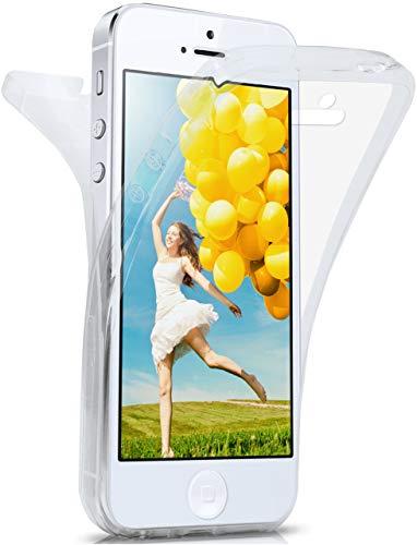 moex Apple iPhone 5S | Hülle Silikon Transparent 360 Grad Double Side Cover Dünne Schutzhülle...