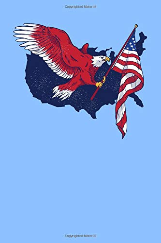 United Vertical Flag (American Eagle Flag: 6x9 Graph Paper Notebook, 120 pages)