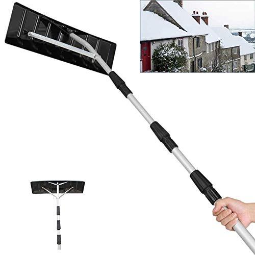 HIMAMahi Einstellbar Schnee Rake,Teleskopstiel Dach Schneeschaufel,Mit Aluminium Konstruktion,Für Dach Reinigen