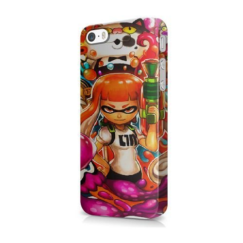 NEW* THE FLASH Tema iPhone 5/5s/SE Cover - Confezione Commerciale - iPhone 5/5s/SE Duro Telefono di plastica Case Cover [JFGLOHA003230] SPLATOON#02