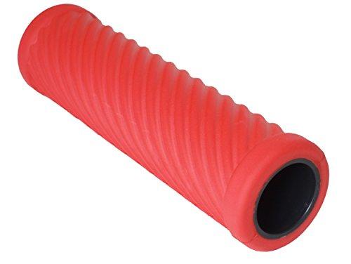 PINOFIT® Faszienroller WAVE die schlaue MASSAGE- und THERAPIE-ROLLE in 6 trendigen Farben,inkl. Übungsanleitungsheft (WAVE RED)