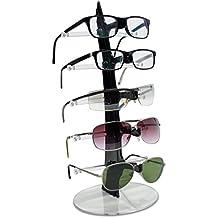 VENKON - Soporte de Gafas con 5 Estantes para Almacenamiento y Presentación de Anteojos Organizador