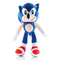 Super Sonic the Hedgehog Plush Toy Cute Soft Stuffed Kids Gift Decorative (Style-A)