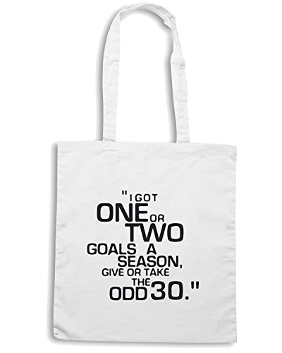 T-Shirtshock - Borsa Shopping WC1021 brian-clough-goals-quote-tshirt design Bianco
