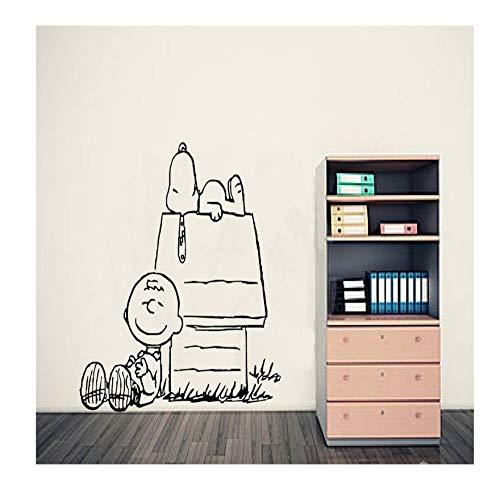 Lzyx Charlie Brown Erdnuss Wandkunst Aufkleber Baby Wandtattoos Wandbild Wandaufkleber Nersery Wohnkultur Tapete 53X55 Cm