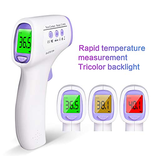 Baby Fieberthermometer Infrarot Ohrthermometer,Multifunktion Digitaler Stirnthermometer Medizinischer Thermometer,Daten-Speicher-Funktion 12 Speicherplätzen CE FDA zertifiziert -