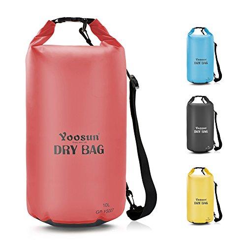 YOOSUN Dry Bag Wasserdicht Taschen Dry Tasche wasserfester Packsack mit Langen Verstellbaren Schulterriemen für Kajak,Segeln,Angeln,Schwimmen, Strand,Bootfahren,Wassersport & Tauchausflüge