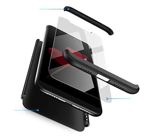 AKC Funda Compatible Xiaomi Mi Mix 2 con 360°Todo Incluido Anti-Scratch, con 2 * HD Vidrio Templado Carcasa Case,Ultra Fina 3 en 1 Hard PC Caja Cover Resistente al Desgaste-Negro