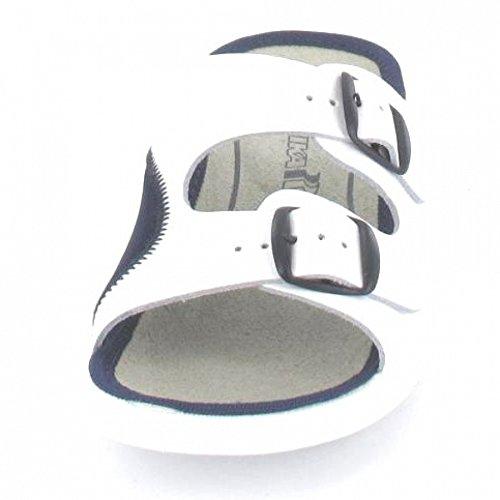 Romika  29074-95N-017, Chaussons pour femme Blanc/bleu