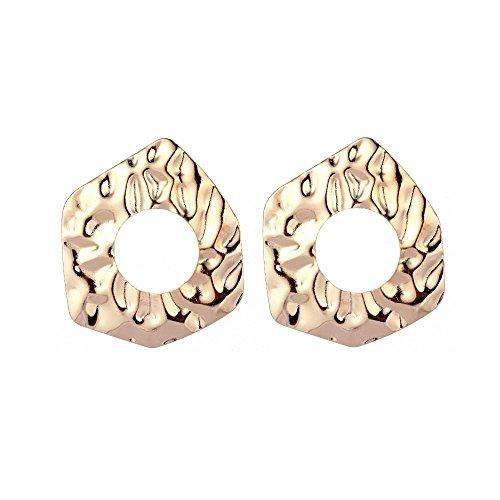 JunBo Übertriebene Art und Weise Ohrringe Kreis Metallring -