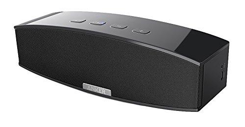 Anker A3143 Premium Stereo Bluetooth 4.0 Lautsprecher Speaker, 20W Audio Output aus Dual 10W Drivers, Kraftvollem Bass und Hoher Lautstärke für iPhone, iPad, Samsung, Nexus, HTC und Weitere (Schwarz)