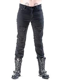 Herren Hose lang im Used Look mit 2 Taschen schwarz in verschiedenen Größen Queen of Darkness