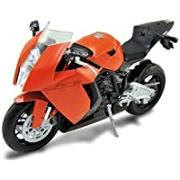 KTM 1190 RC8 Orange Diecast Motorcycle Model 1/10 by Welly 62806 by Welly - Compare prices on radiocontrollers.eu