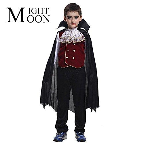 Jahre - Kostüm Verkleidung Karneval und Halloween von Vampir Dracula Twilight Farbe Schwarz männliches Kind (Kostüm Vampir Twilight)