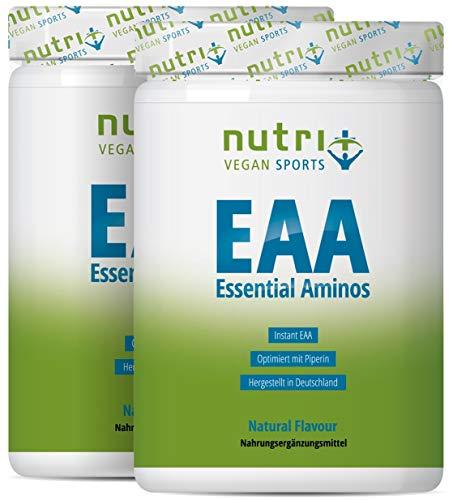 EAA PULVER Neutral 1kg DOPPELPACK - Höchste Dosierung - Instant EAAs Powder ohne Süßstoff, Zusatzstoffe & künstlichen Geschmack - essentielle Aminosäuren - Vegan Essential Aminos