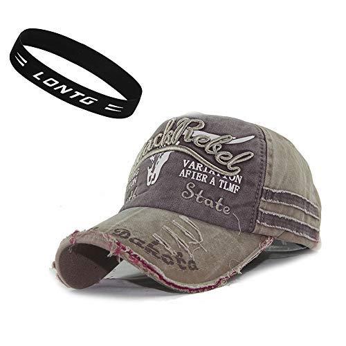 e Baseball Mützen Baseballkappe Cap Baumwolle Snapback Hut Unisex Sonnenhut für Damen Männer oder Kinder zum Sport und Reisen ()