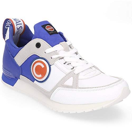 COLMAR Herrenschuhe Sneakers Supreme Macro O. by O. 200 aus blauem Leder SUP-MAC-200
