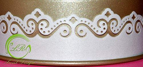 ' Spitze Bordüre Ornaments Rand' Torte Tortendekoration,Geburtstag, Tortendeko,