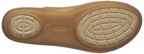 Crocs Isabellafltsndl, Mules Femme Or (Bronze)