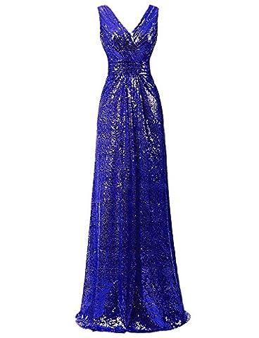 Ysmo - Robe - Trapèze - Femme - bleu - 32
