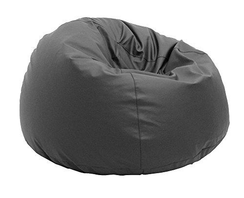 Pouf Beanbag Pamplemousse Polyester imperméable pour extérieur L 90 x 50 cm Gris