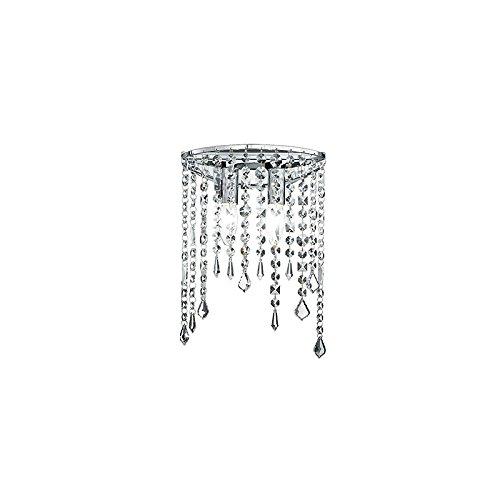 Fan europe applique breeze cristalli cromo pendenti e14, 40 w, 35x25
