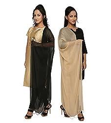 Dupatta Bazaar Womens Dupatta (Pack of 2)(CD0040_Multi-Coloured_Free Size)