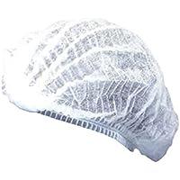 Tapón de red de pelo desechable y transpirable, tamaño libre, 100 unidades, color blanco