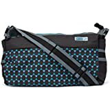 Anekaant MomLyf Brown And Blue Printed Polyester Diaper Bag With Changing Mat And Bottle Cover